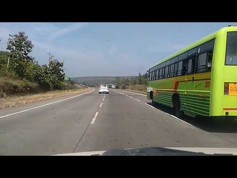 Pune Bangalore Highway KSRTC Overtaking on NH-4 - Part -1