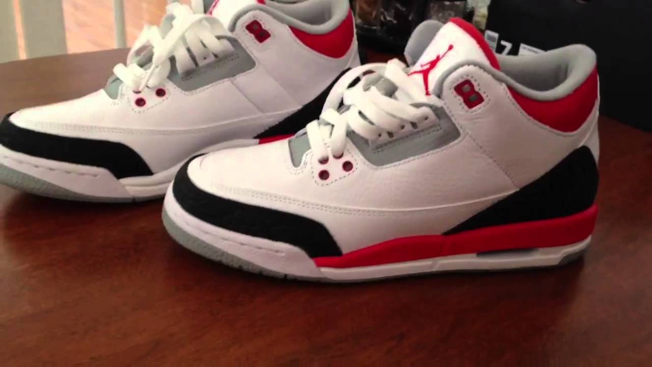 fake air jordan fire red 3 laces