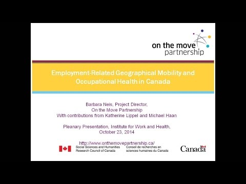 Exploring OHS issues among people who travel long distances to work, October 23, 2014