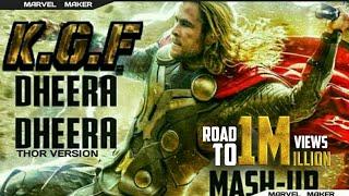 MARVEL: KGF Dheera Dheera Song in Thor