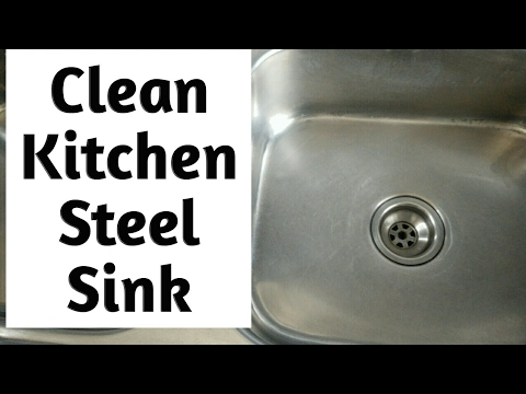 DIY Clean Kitchen Stainless Steel Sink In 3 Simple Steps | How To ...