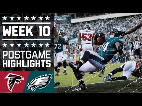 Falcons vs. Eagles   NFL Week 10 Game Highlights