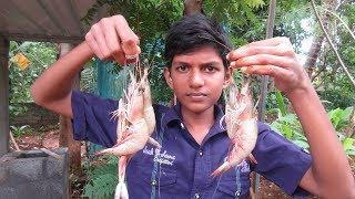 village food factory / Cooking prawn gravy - Chappathi  by my Family in my village / food factory