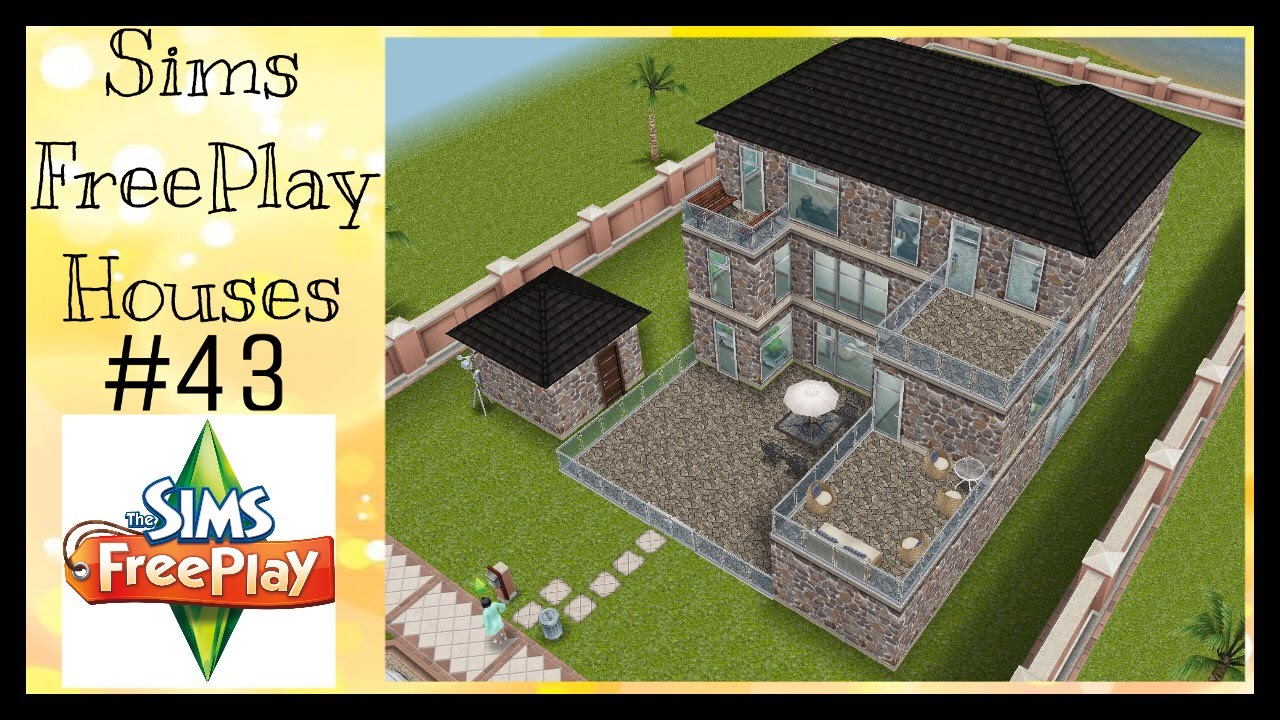 MINI MANSION Sims FreePlay House Idea #43 YouTube