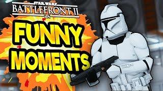 Star Wars Battlefront 2 Funny & Random Moments [FUNTAGE] #42 - Wrist Rockets Special!
