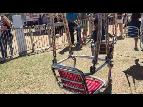 Small swings- fair ride pov( at the firefighters fair in Indian river county