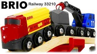 BRIO Railway 33210 Rail & Road Loading Set with Train and Trucks