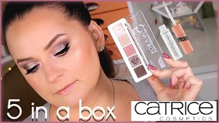 Catrice 5 in a box 020 Soft Rose Look Макияж и свотчи
