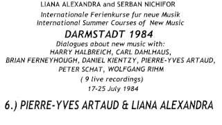 DARMSTADT 1984 by Liana Alexandra & Serban Nichifor ( 9 live recordings)