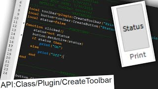 Add Plugin Functionality with Toolbars! | Roblox Tutorial