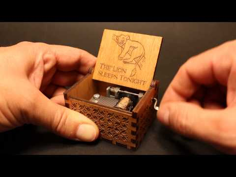 The Lion Sleeps Tonight - The Lion King Music box by Invenio Crafts