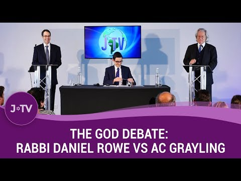 THE GOD DEBATE: AC Grayling vs Rabbi Daniel Rowe | J-TV