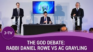 THE GOD DEBATE: AC Grayling vs Rabbi Daniel Rowe | J-TV