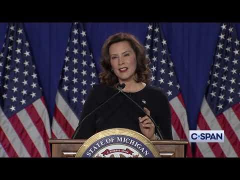 Democratic Response From Michigan Governor Gretchen Whitmer Youtube