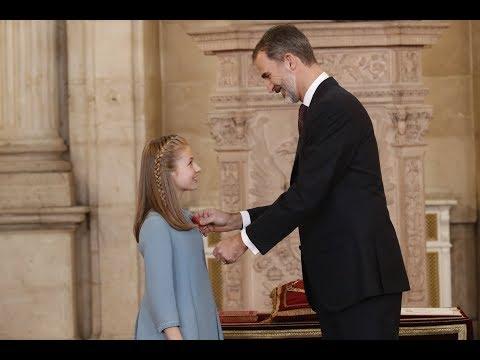 Ceremonia de Imposición del Toisón de oro a la Princesa de Asturias Leonor de Borbón