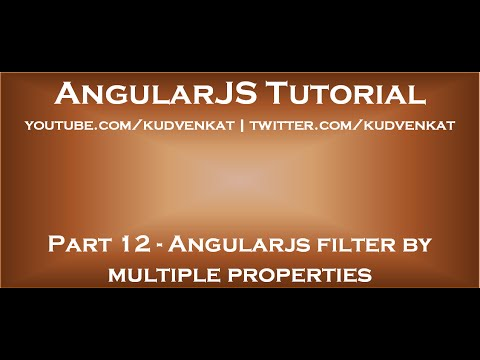 Angularjs Filter By Multiple Properties