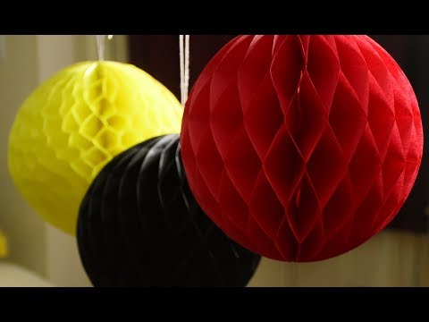 Diwali decoration ideas for home | Diy Decoration Paper ball | DIY tissue paper honeycomb ball
