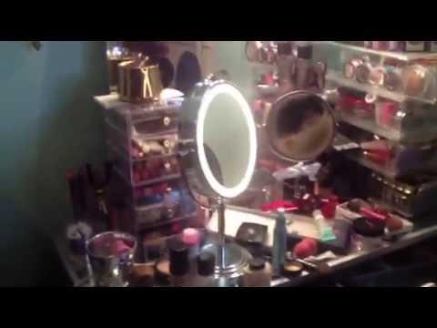 Conair oval lighted mirror youtube mozeypictures Gallery