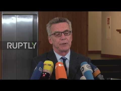 Germany: De Maiziere airs concern BVB bus attack used terrorism as criminal cover