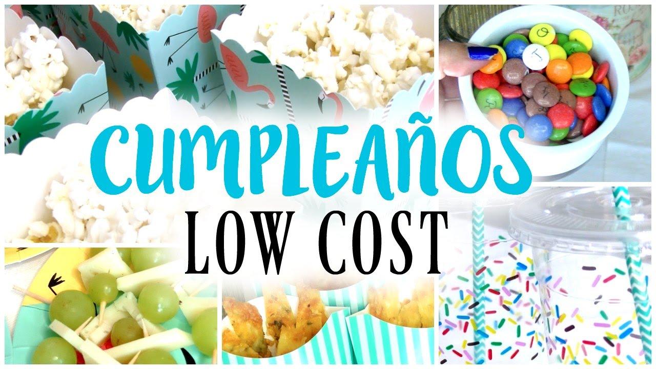 Como preparar un cumplea os low cost recetas f ciles - Comidas de cumpleanos infantiles ...
