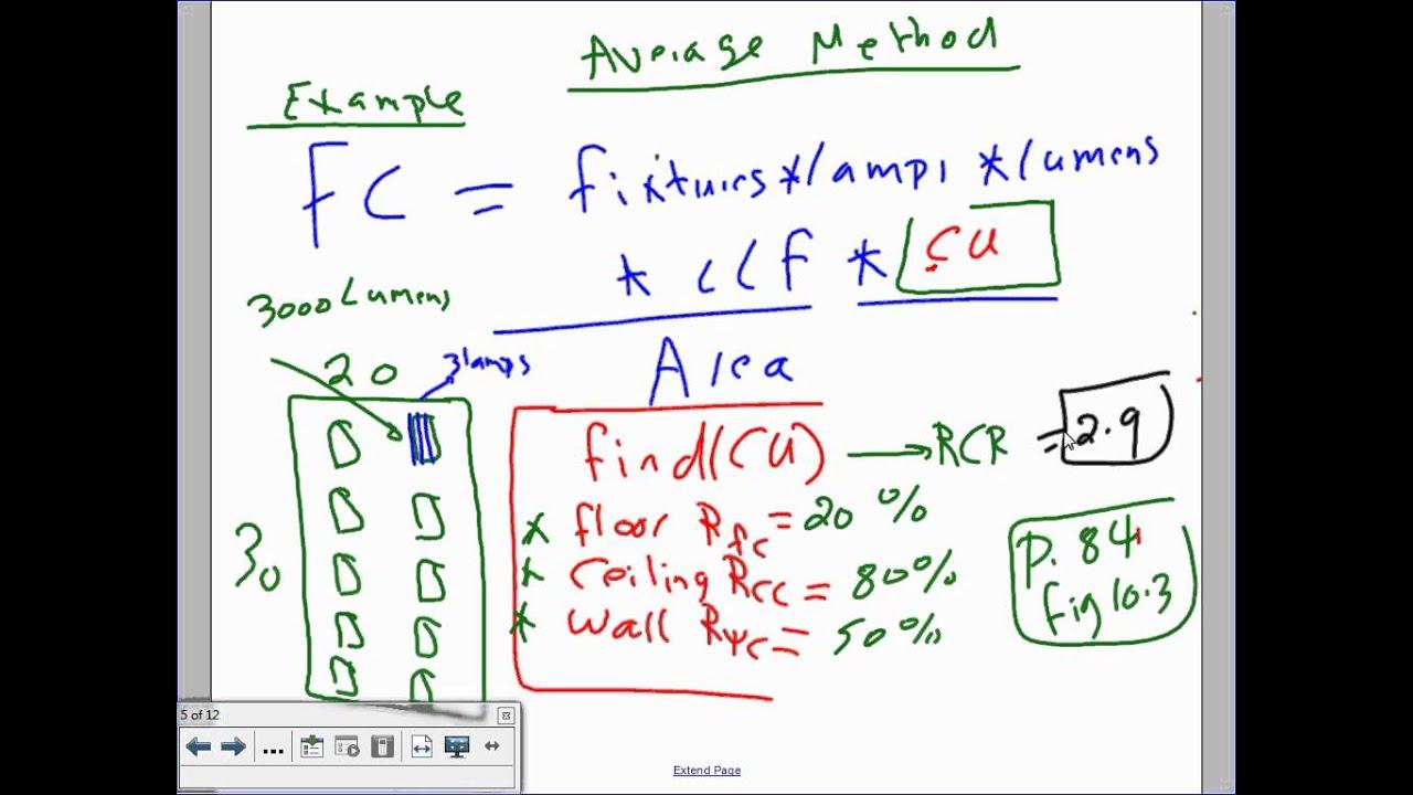 Lighting Calculation Zonal Cavity Method 11 20 13 Youtube