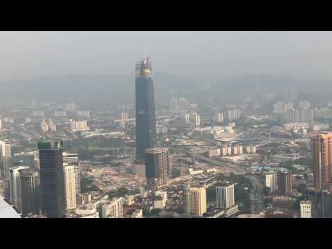 A great view of Kuala Lumpur from KL Tower's Sky Box 2 with some famous buildings seen