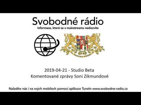 2019-04-21 - Studio Beta -  Komentované zprávy Soni Zikmundové.
