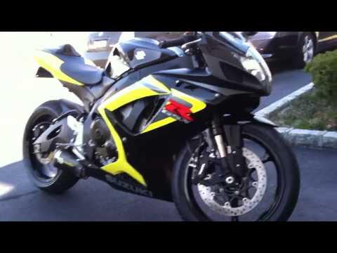 2006 Suzuki gsxr 750 black yellow