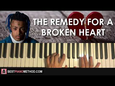 HOW TO PLAY - XXXTENTACION - The Remedy for a Broken Heart (Piano Tutorial Lesson)