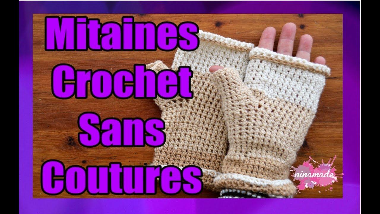 Diy Mitaines En Crochet Pour Débutantes Crochet Fingerless Mittens For Beginners