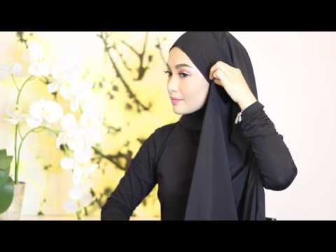 Sufyaa Hijab Tutorial, Basic Drape with Chiffon Shawl