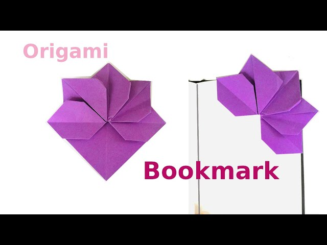 How to Fold a DIY Origami Flower Corner Bookmark Tutorial | Origami for Beginners