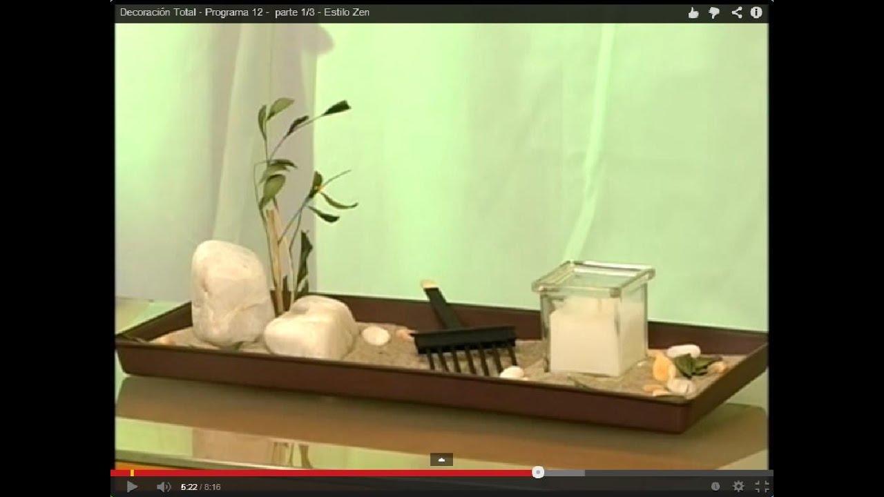 Jard n al estilo zen programa 12 parte 3 3 youtube for Como elaborar un jardin