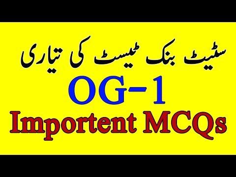 NTS sample paper of state bank of Pakistan OG 1 | OG 1 Test Preparation |  OG 2 Test Preparation
