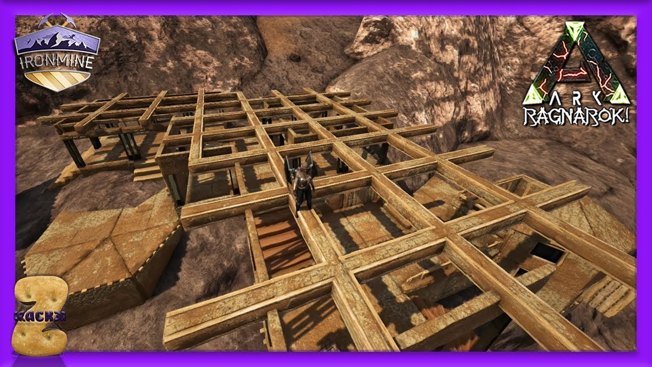 Fun with S+ Dynamic Pillars  Ark Ironmine Cluster Ep 03 by Crack3rz