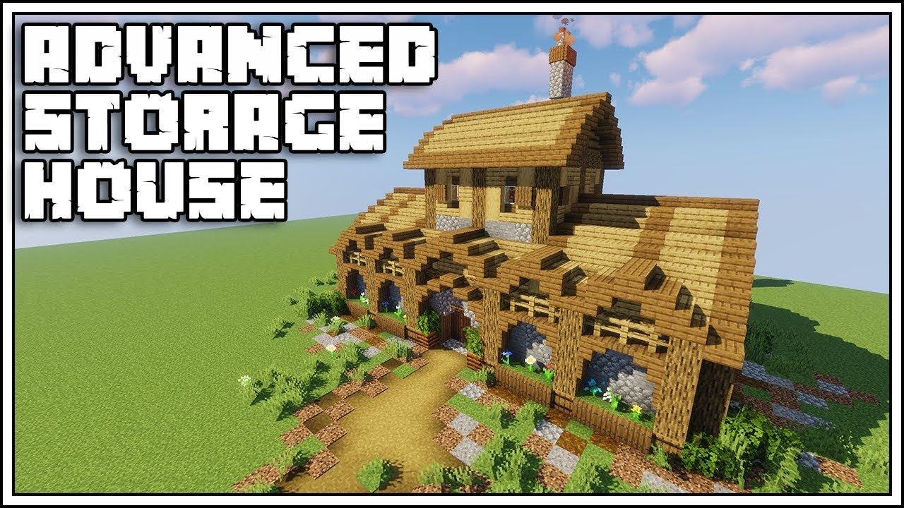 Minecraft 8.84 Advanced Storage House Tutorial