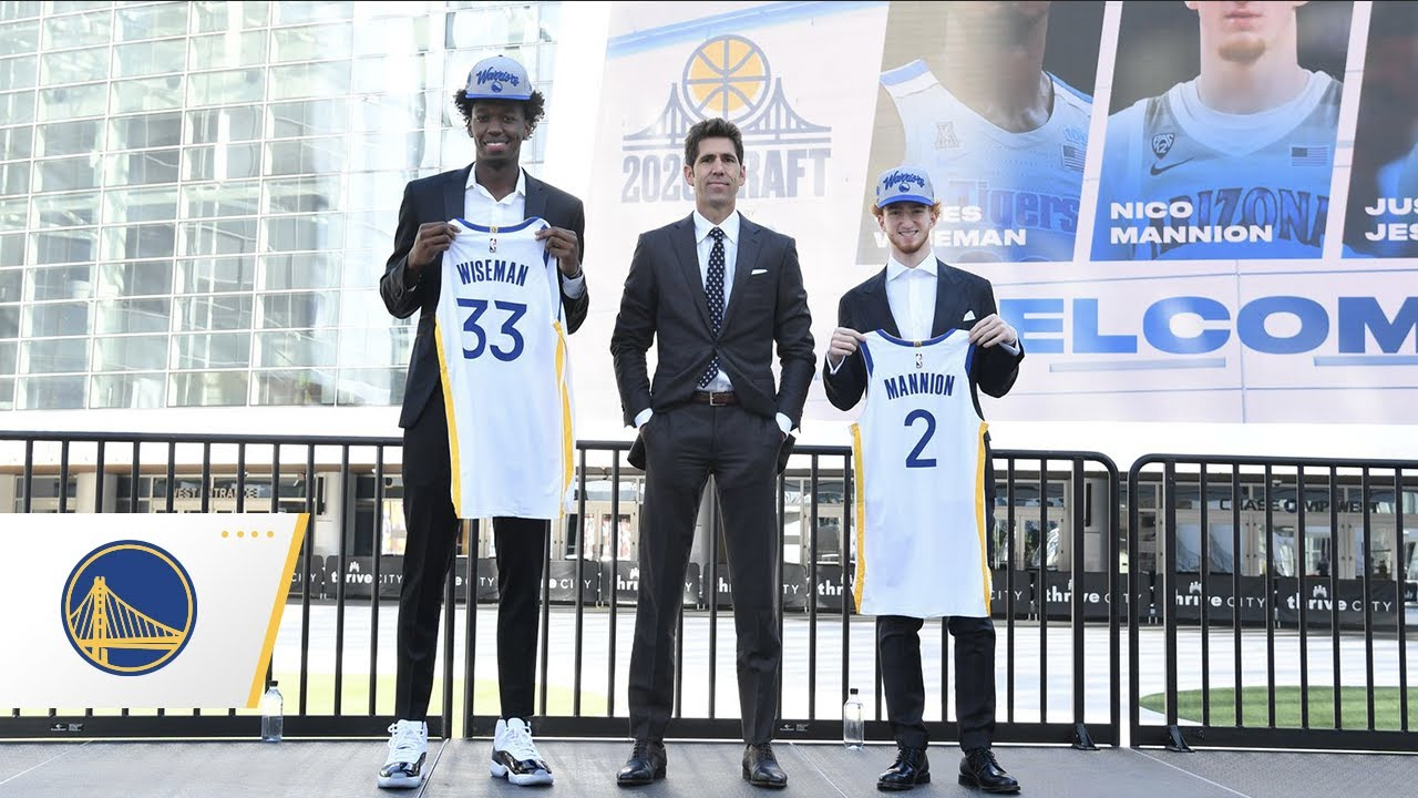 Golden State Warriors Welcome James Wiseman and Nico Mannion to Chase Center