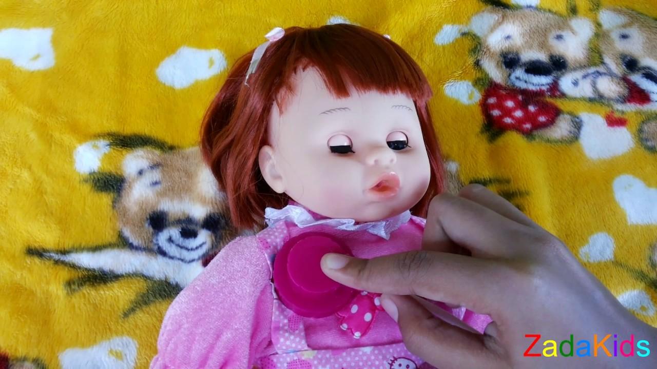 Lucunya Boneka Nangis Minta Dot - Mainan Anak Boneka Bayi Makan Dan Ngedot e04192c283