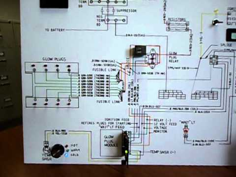CUCV Glow Plug System Video YouTube – Diesel Glow Plug Wiring Diagram