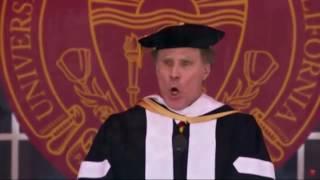 Will Ferrell sings during commencement speech