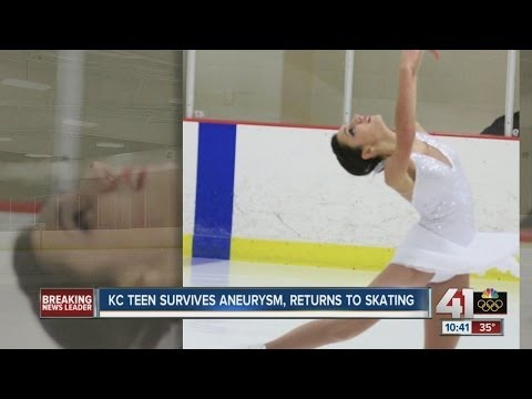 Teenage figure skater survives aneurysm, returns to skating