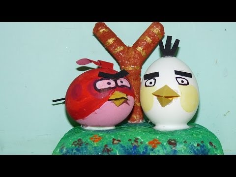 how to make angry birds from egg shell