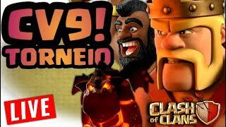 💥TORNEIO DE CV9 DOS PTS! CLASH OF CLANS! (AO VIVO)💥