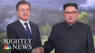 Leaders Of North And South Korea Meet In Surprise Summit | NBC Nightly News