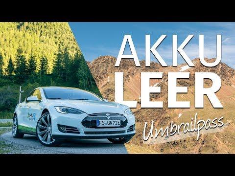 AKKU LEER AUF 2.500 METERN HÖHE | Tesla Model S |Umbrailpass