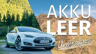 EMPTY BATTERY ON 2.500 METERS HEIGHT | Tesla Model S | Umbrailpass
