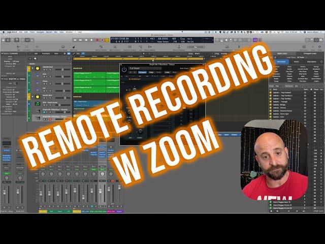 Remote recording utilizing Zoom's Remote Control  w zero latency.