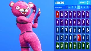 *UPDATE* Fortnite CUDDLE TEAM LEADER Skin Showcase with All Dances & Emotes *Subscriber Request*
