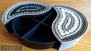 Jewellery box diy || cardboard box || How to make cardboard jewellery box