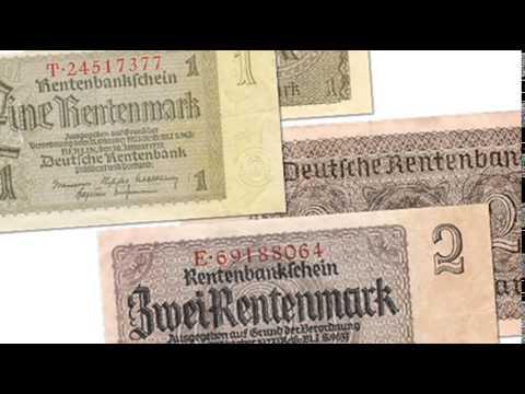 15th October 1923: Rentenmark introduced in Weimar Germany